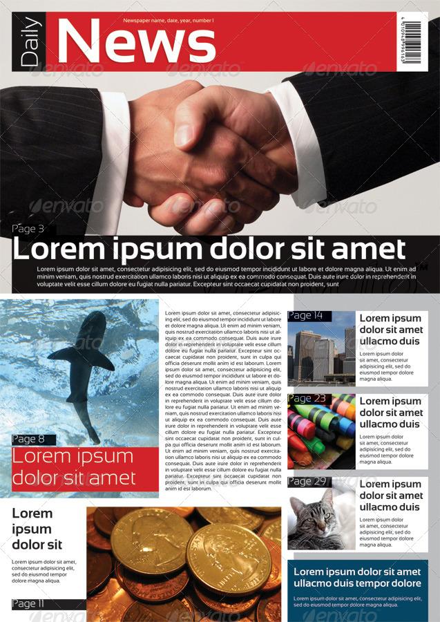 دانلود قالب آماده روزنامه ایندیزاین در سایز A3