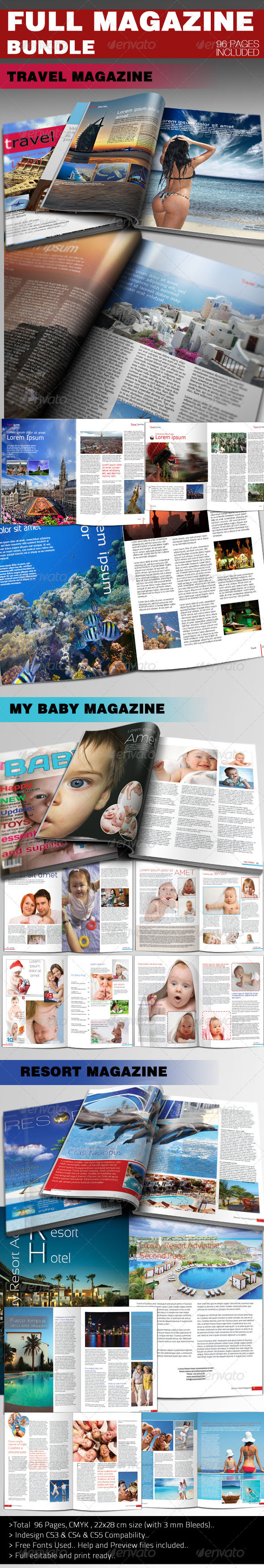 Full Magazine Bundle - Magazines Print Templates