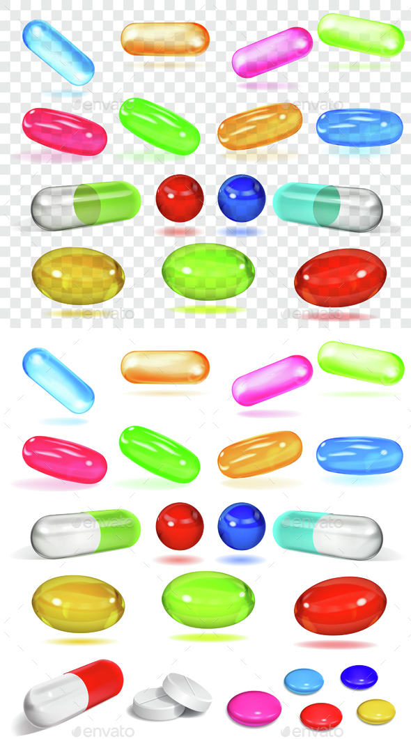 Set of Capsules - Health/Medicine Conceptual