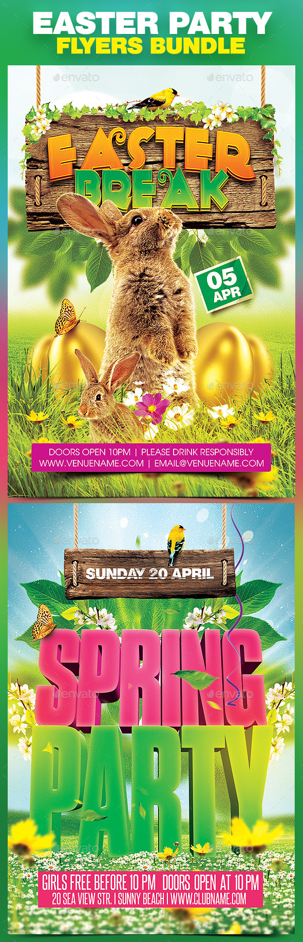 Easter Party Bundle v.2 - Clubs & Parties Events