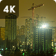 Night Building Construction - VideoHive Item for Sale