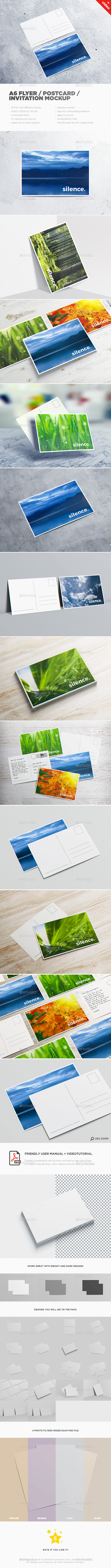 A6 Flyer / Postcard / Invitation MockUp - Miscellaneous Print