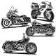 Retro Motorcycle Illustration - GraphicRiver Item for Sale
