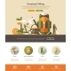 Camping, Hiking Website Template With Header - GraphicRiver Item for Sale