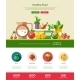 Flat Design Fruits And Vegetables Website Header - GraphicRiver Item for Sale