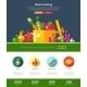 Flat Design Fruits And Vegetables Website Header - GraphicRiver Item for Sale