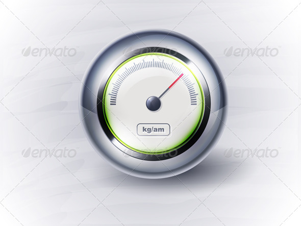 Speedometer or clock - Objects Vectors