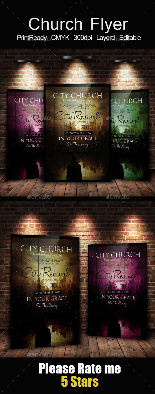 Back to God Church Flyer - Church Flyers