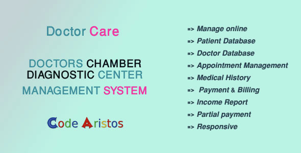 Doctor Care - Diagnostic Center / Doctors Chamber Management System - CodeCanyon Item for Sale