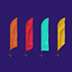 4 Feather / Beach / Sail / Bow Flags MockUp - GraphicRiver Item for Sale