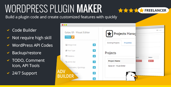 WordPress Plugin Maker - Freelancer Version - CodeCanyon Item for Sale