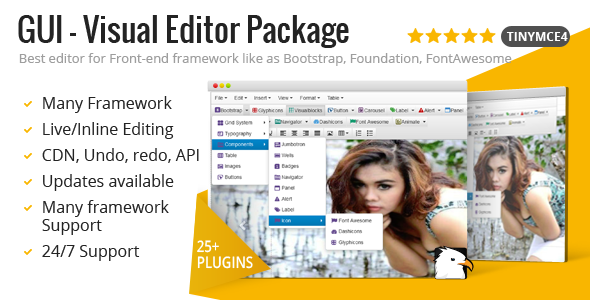 GUI - Visual Editor Package For TinyMCE - CodeCanyon Item for Sale