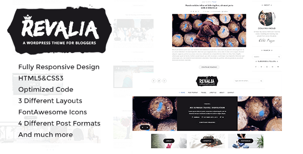 Revalia - Responsive HTML Template for Bloggers