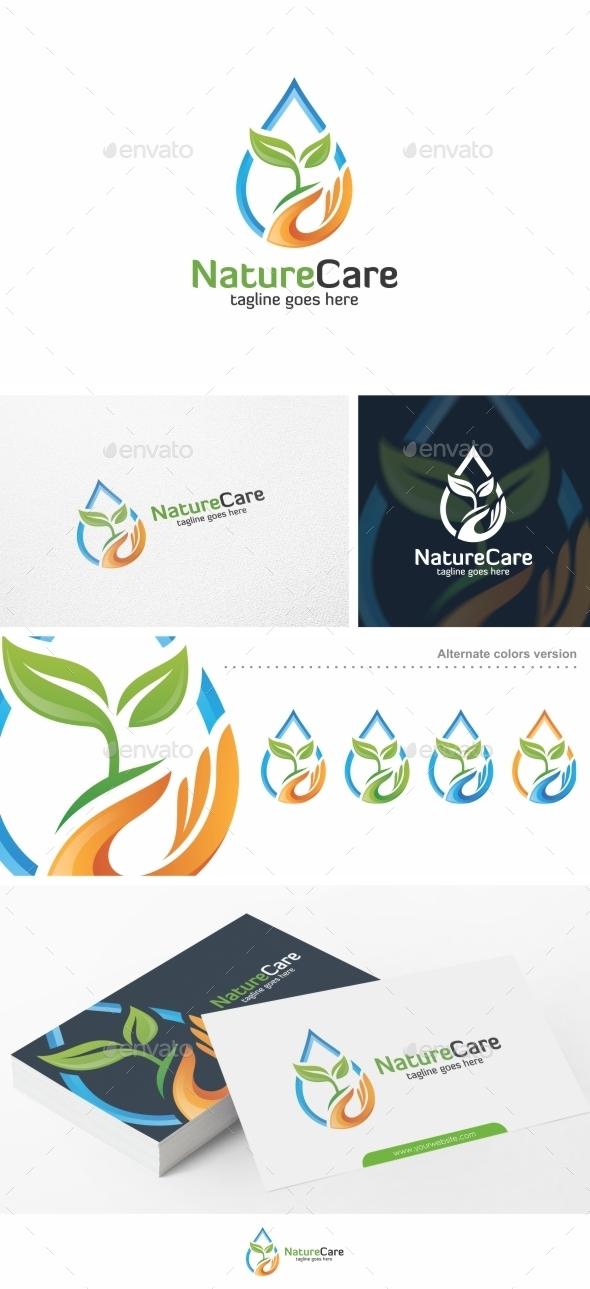 Nature Care - Logo Template - Nature Logo Templates