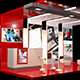 Modern Exhibition Stand and Elements - 3DOcean Item for Sale