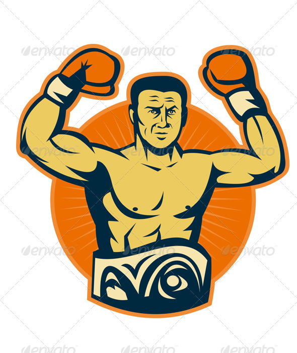 Champion Boxer Boxing Retro - Sports/Activity Conceptual