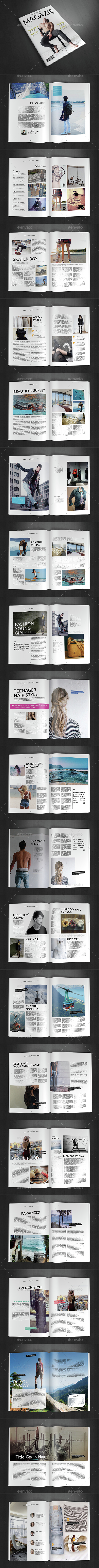 A4 Magazine Template Vol.18 - Magazines Print Templates