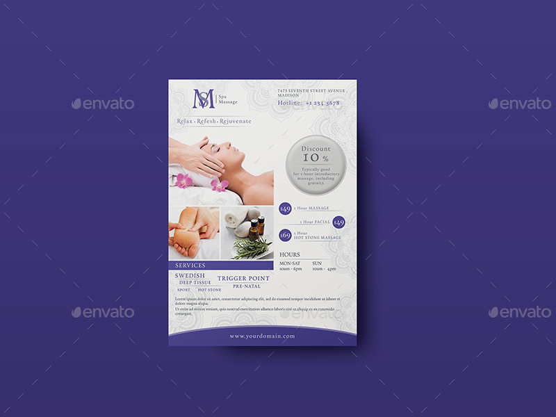 Massage - Ad & Flyer Template By Wutip2 | Graphicriver