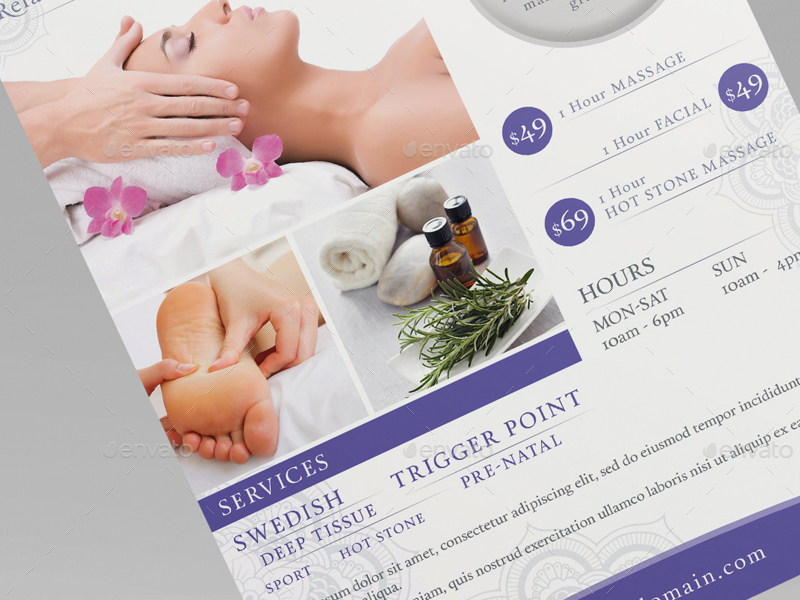 Massage  Ad  Flyer Template By Wutip  Graphicriver
