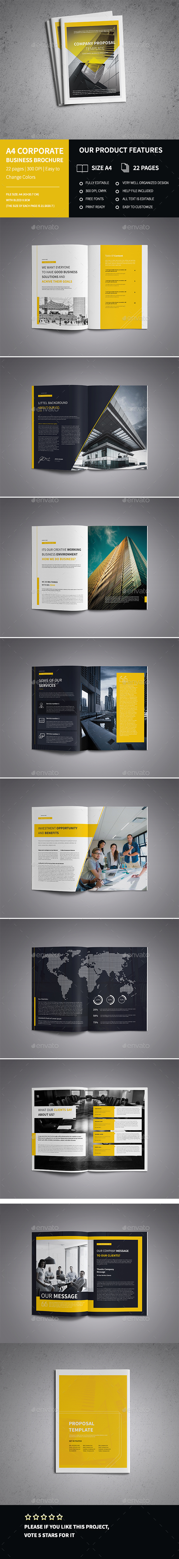 Modern A4 Corporate Business Brochure template  - Corporate Brochures