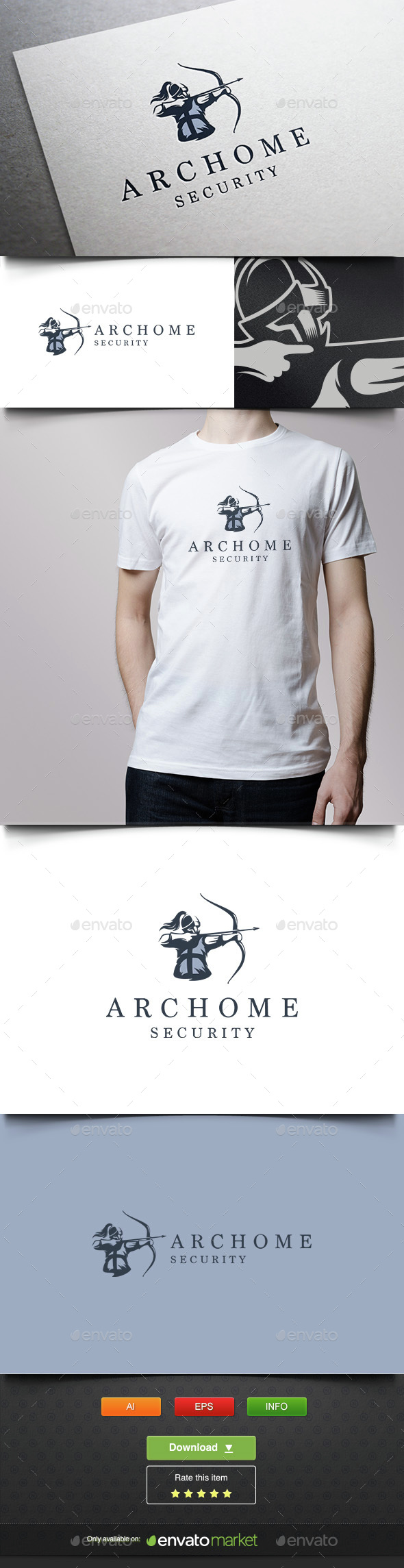 Archer Warrior - Humans Logo Templates