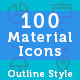 New Material Design Icons - Outline Style - GraphicRiver Item for Sale