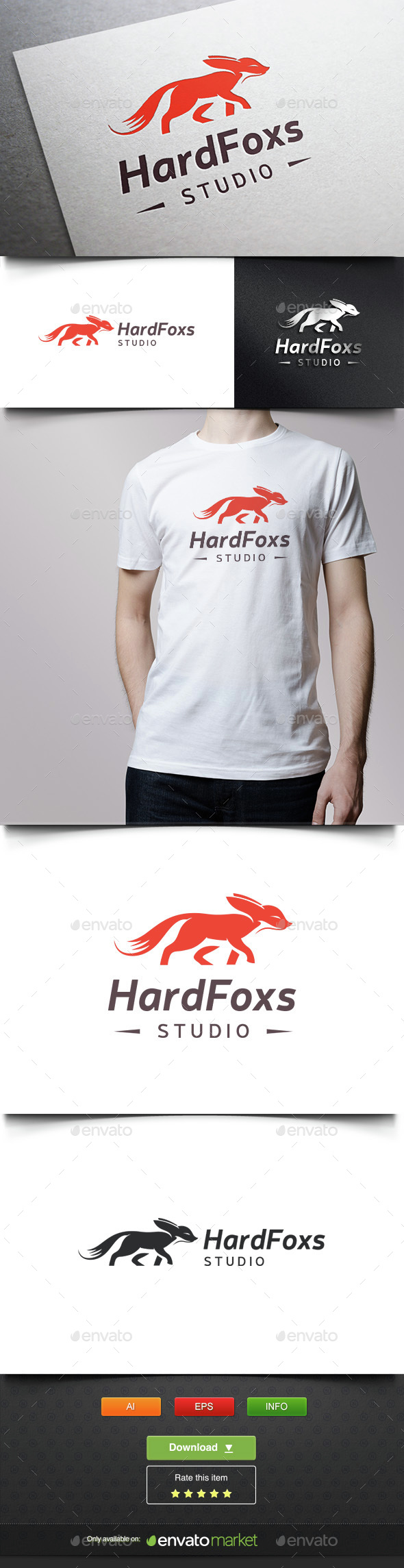 Fox Studio - Animals Logo Templates