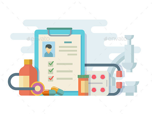 Medicine Pills Stethoscope - Health/Medicine Conceptual