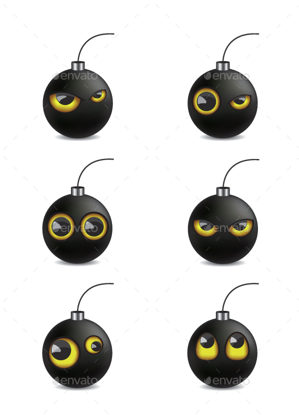 Bomb Emoticon Cartoon Illustration - Miscellaneous Characters