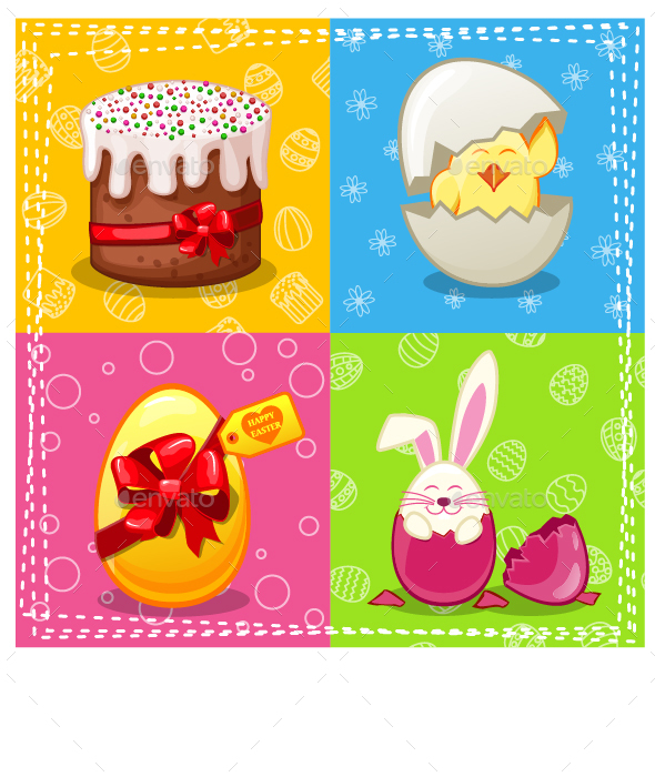 Easter Characters Card - Miscellaneous Seasons/Holidays