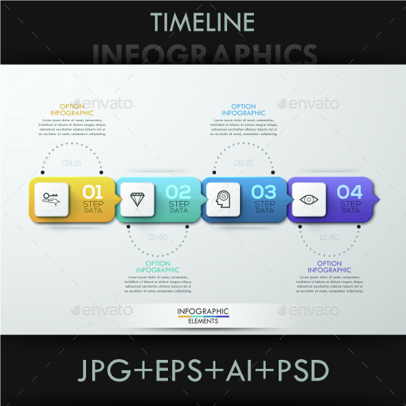 Minimal Paper Timeline Template - Infographics