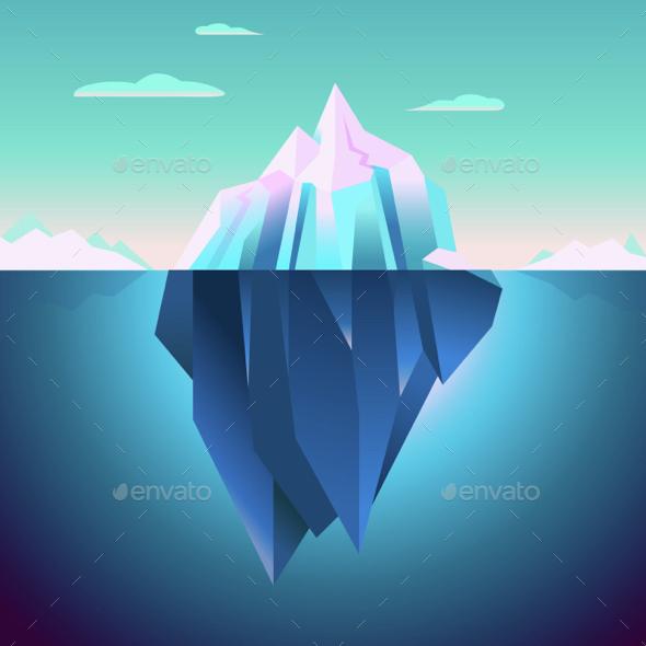 Quarz Iceberg Backdrop - Landscapes Nature