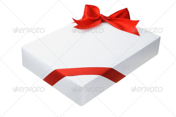 Rectangular shape gift box - Stock Photo - Images
