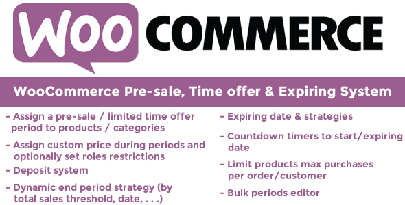 WooCommerce Pre-sale, Time offer & Expiring System - CodeCanyon Item for Sale