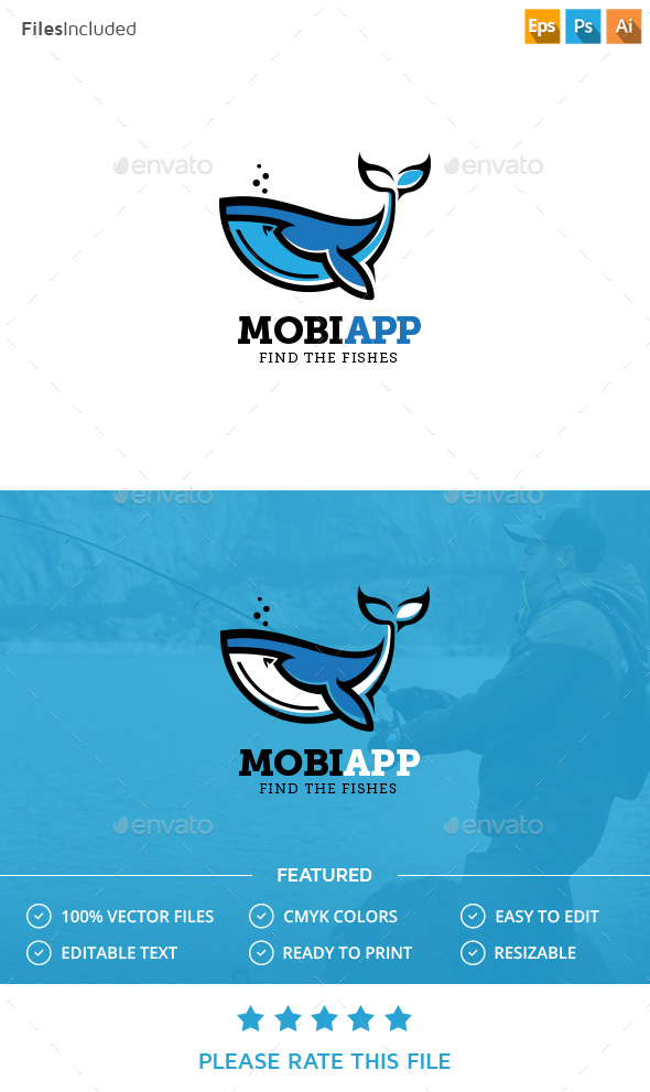 Whale Logo - Animals Logo Templates