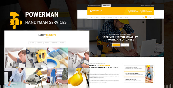 POWERMAN - Handyman Services Drupal Theme - Business Corporate