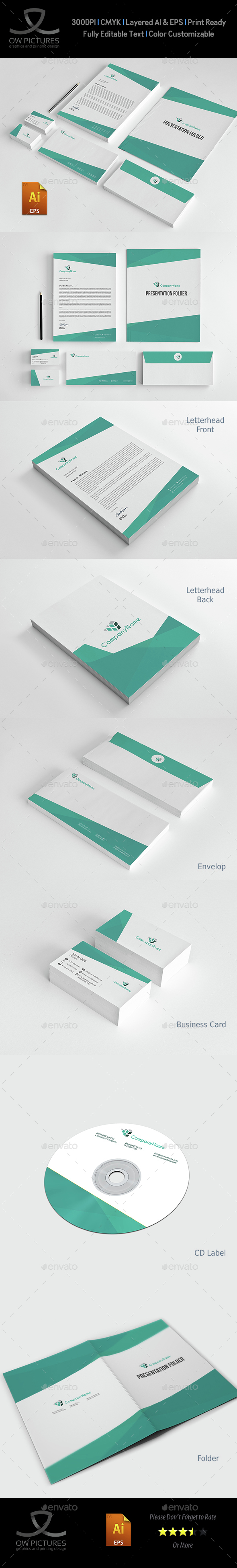 Corporate Stationery Pack Design Template Vol.12 - Stationery Print Templates