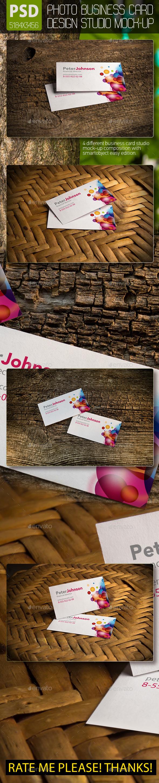 Photo Business Card Design Studio Mockups - Business Cards Print