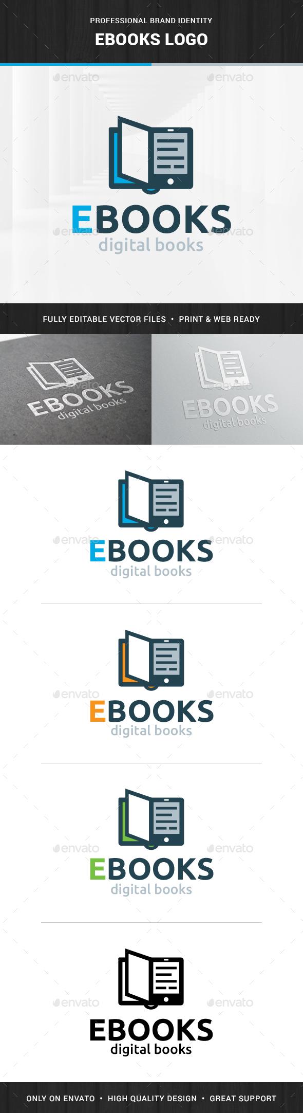 Ebooks Logo Template - Objects Logo Templates