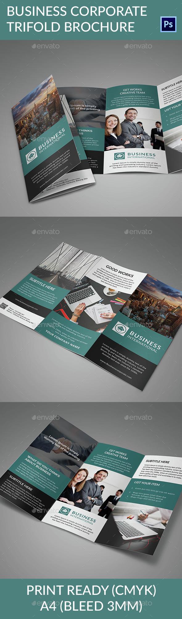 Business Corporate Trifold Brochure - Corporate Brochures