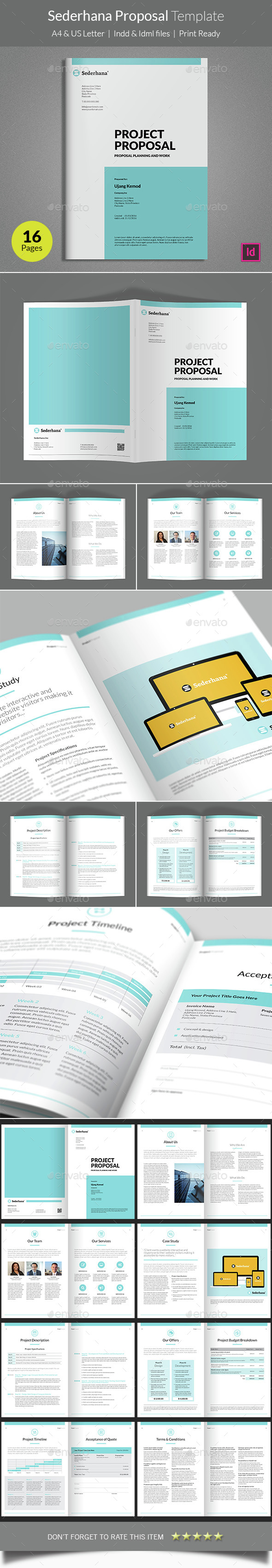 Sederhana Proposal Template - Proposals & Invoices Stationery