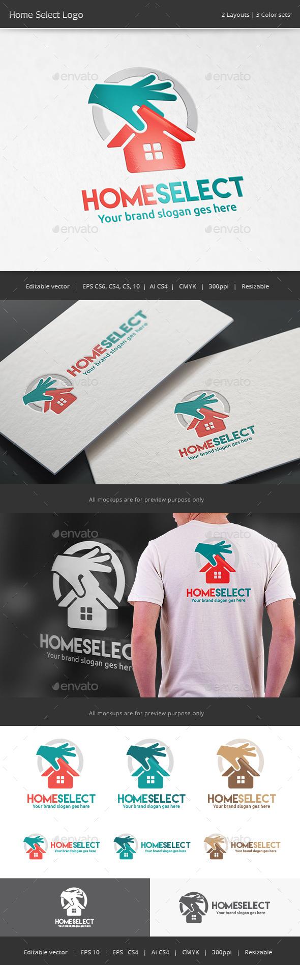 Home Select Logo - Vector Abstract