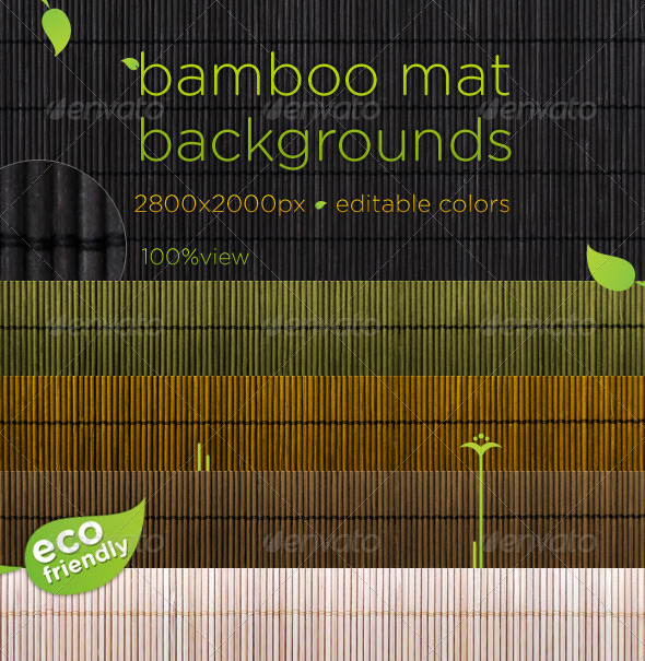 Bamboo Mat Natural Backgrounds - Wood Textures