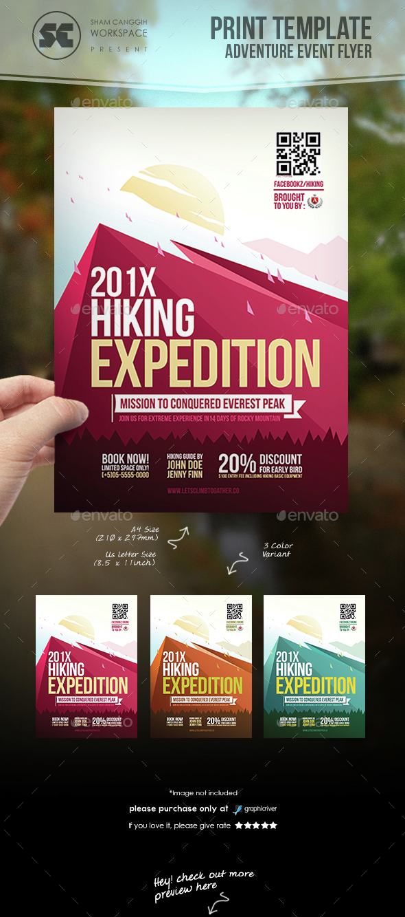 Hiking Adventure Flyer - Sports Events