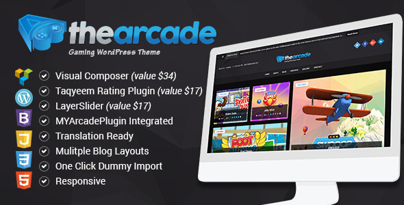 The Arcade – Gaming WordPress Responsive Theme