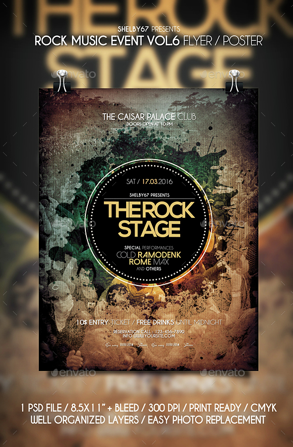 Rock Music Event Flyer / Poster Vol 6 - Events Flyers