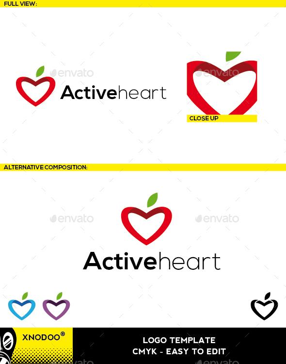 Activeheart Logo - Symbols Logo Templates