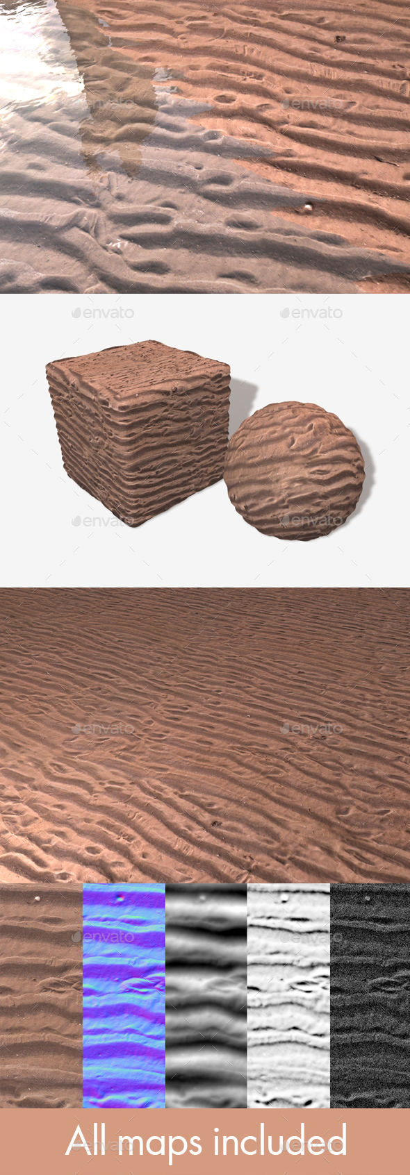 Sand Ripples Seamless Texture - 3DOcean Item for Sale