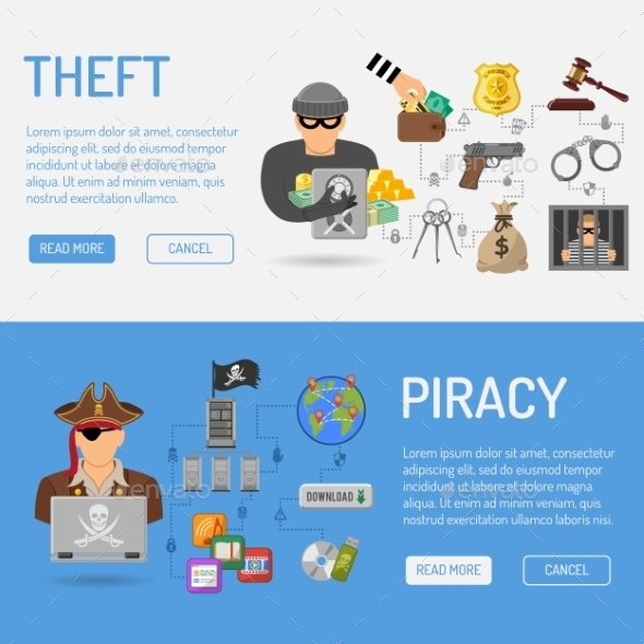 Piracy and Theft Banners - Web Technology
