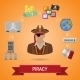 Piracy Concept with Pirate - GraphicRiver Item for Sale